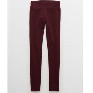 Maroon Aerie Chill Play Move Leggings Medium